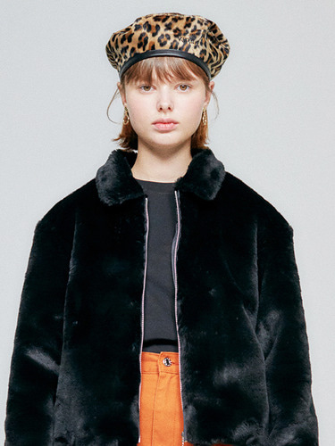 FUR JACKET HA [BLACK]
