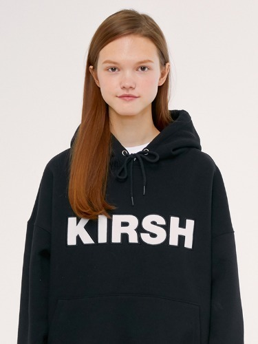 KIRSH LOGO HOODIE IS [BLACK]