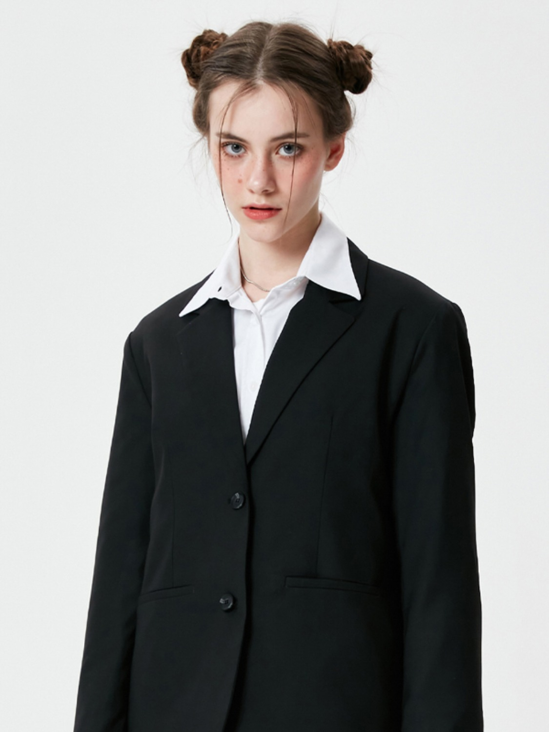 TWILL TAILORED JACKET KS [BLACK]