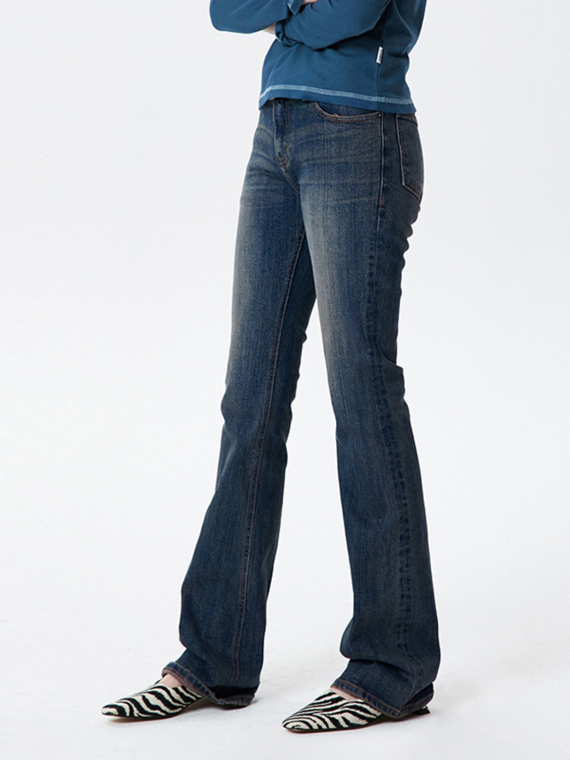 VINTAGE BOOTSCUT DENIM PANTS KS [INDIGO BLUE]
